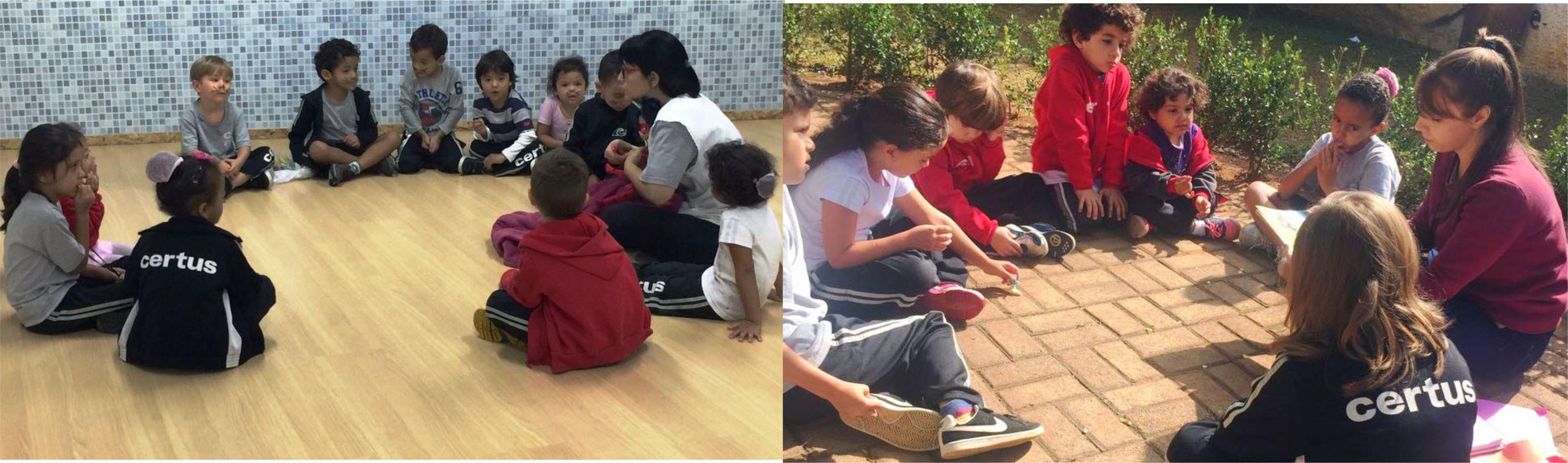 Rodas de conversa e brincadeiras em grupo fortaleceram a conscientização dos preceitos culturais indígenas