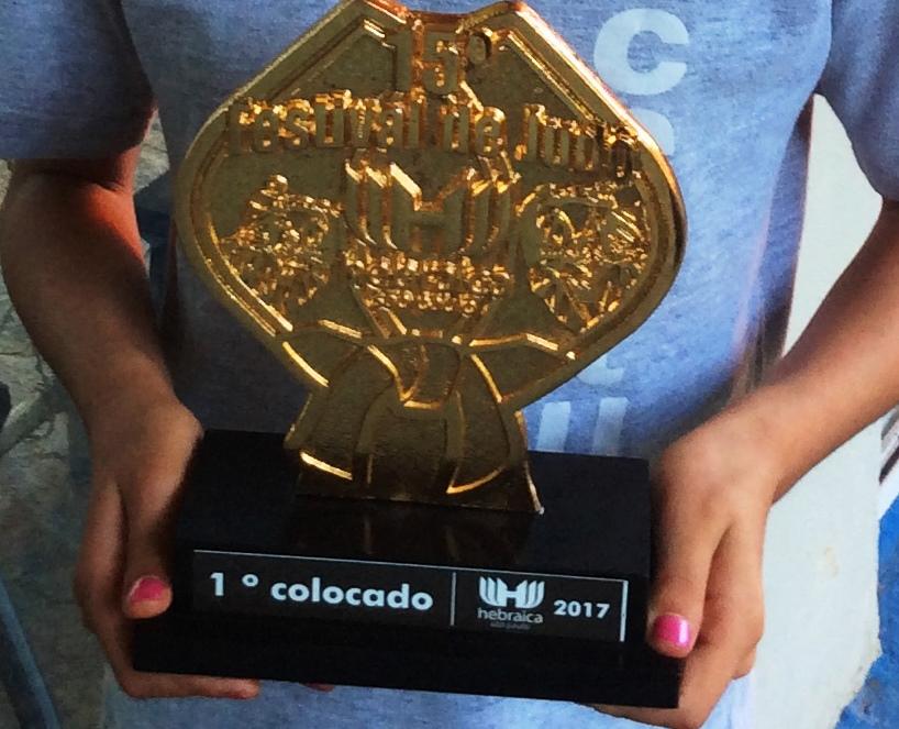 Certus recebe troféu no 15º Festival de Judô do Clube Hebraica