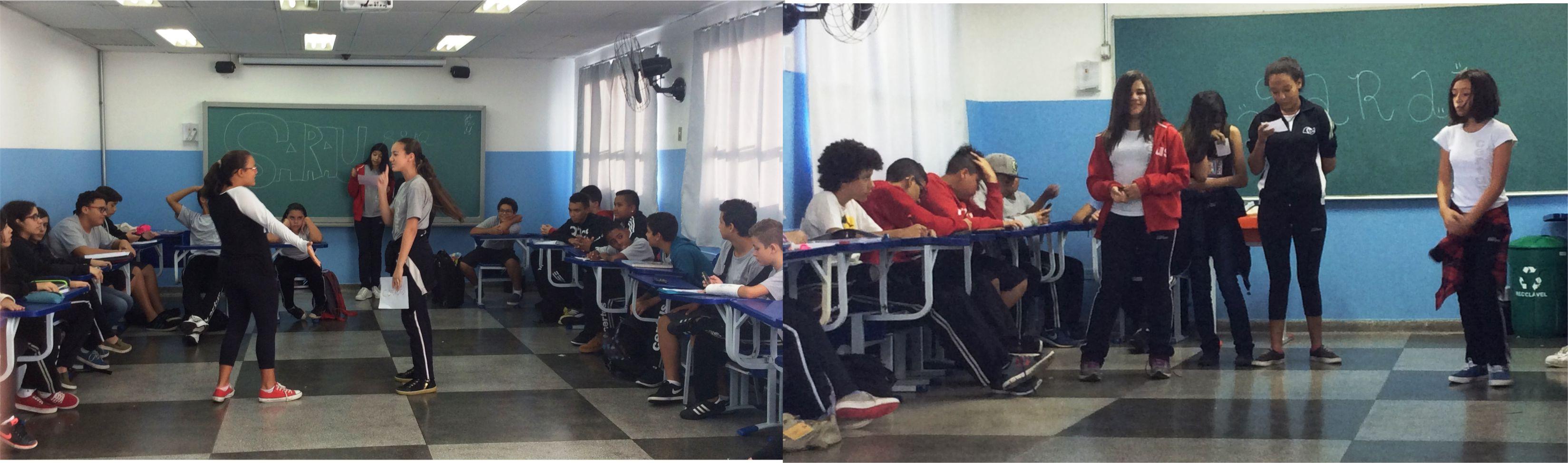 Alunos apresentam rimas em sala de aula