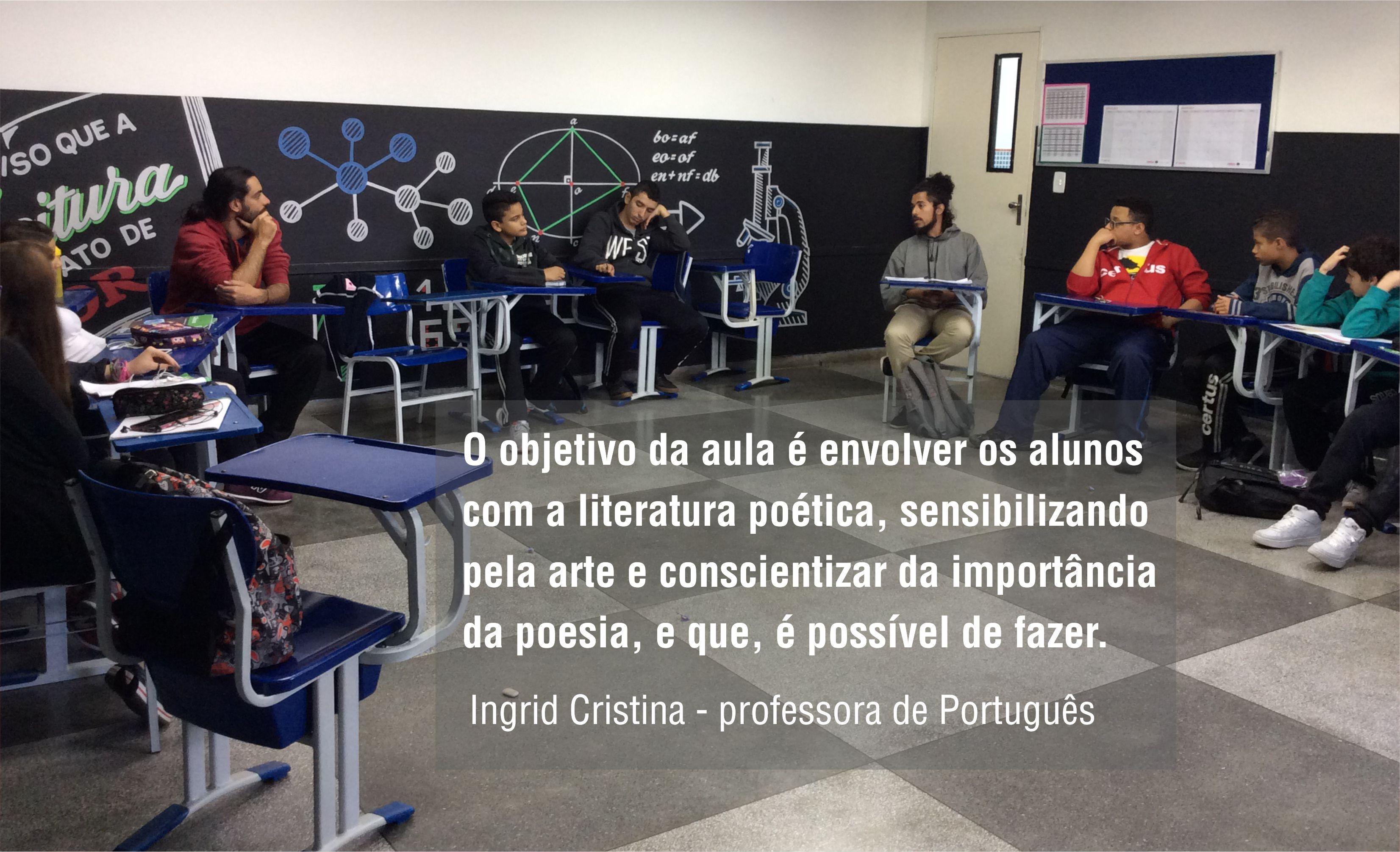 Poeta Marcio Ricardo ensina alunos do Fundamental do Certus a fazer poesia e dominar rimas