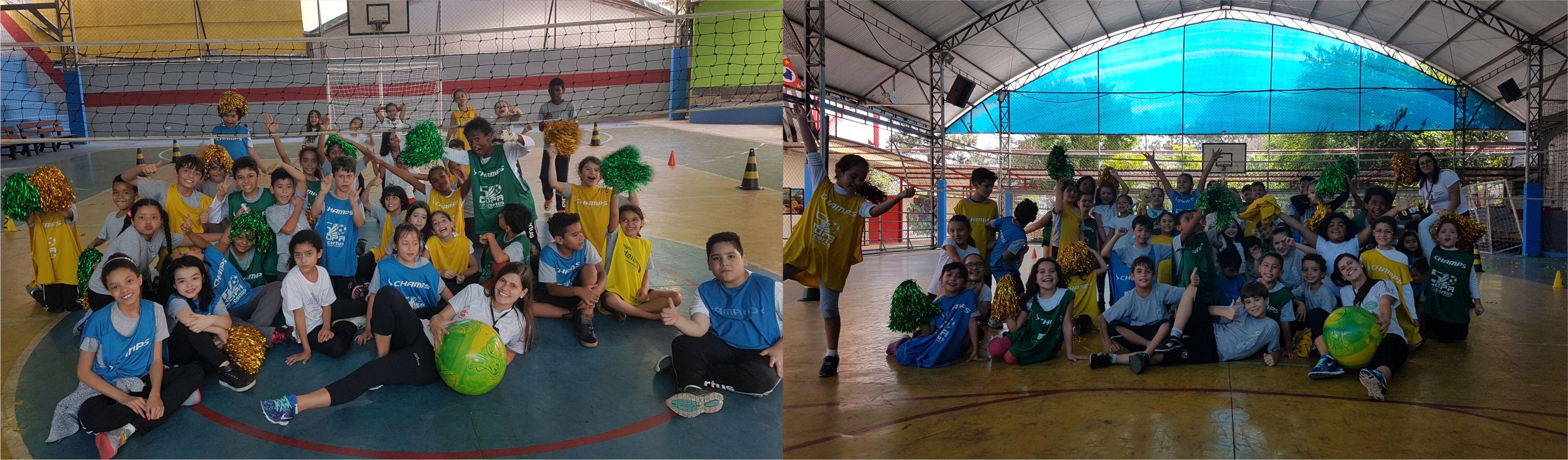 Coordenação motora e cognitiva e habilidade específica são desenvolvidas nas aulas de educação física do fundamental no Certus com jogo de volêi